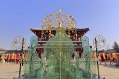 Cesarza lishimin i blaszecznicy dynastii dam szklana statua w kwadracie datang furong uprawiamy ogródek Obraz Stock