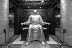 Cesarza lishimin statua w datangfurongyuan parku, czarny i biały wizerunek Zdjęcie Royalty Free