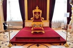 Cesarza tron w Gatchina pałac Obrazy Stock