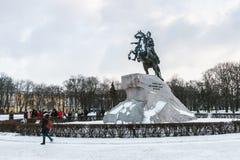 cesarza wielki pomnikowy Peter rosjanin Obrazy Royalty Free