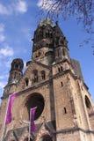 Cesarza Wilhelm II pomnika kościół przy Berlin Zdjęcie Stock