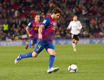 Cesc Fabregas in action Royalty Free Stock Photo