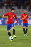 Cesc Fabregas. Francesc Cesc Fabregas Soler midfielder of the Spanish National Football Team, pictured during the friendly match between Romania and Spain royalty free stock image