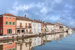Cesenatico, Küstenstadt in Emilia Romagna, Italien stockbild