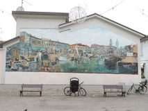 Cesenatico Murales Royalty Free Stock Photo