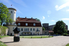 Cesis新的城堡 库存照片