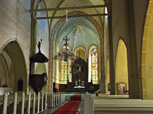 cesis kościelny Europe John Latvia święty zdjęcie stock
