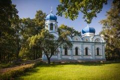 Cesis, Latvia, Europe. Beautiful orthodox church in Cesis, Latvia, Europe Royalty Free Stock Images