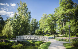 Cesis, Latvia, Europe. Medieval park in summer, Cesis, Latvia, Europe Royalty Free Stock Images