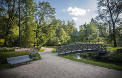 Cesis, Latvia, Europe. Medieval park in summer, Cesis, Latvia, Europe Stock Image