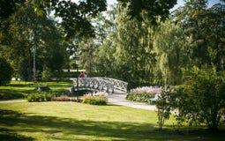 Cesis, Latvia, Europe. Medieval park in summer, Cesis, Latvia, Europe stock photos