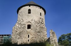 Cesis medieval Castle Stock Photo