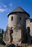 Cesis mittelalterliches Schloss Stockbild