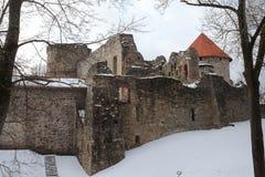 Cesis slott Fotografering för Bildbyråer