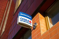 Ceska Sporitelna, financial institution within Erste Group. OPAVA, CZECH REPUBLIC / CZECHIA - JUANRY 4, 2018: Building with signboard of Ceska Sporitelna Royalty Free Stock Photos