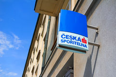 Ceska sporitelna. OSTRAVA, CZECH REPUBLIC - AUGUST 25, 2017: Building with signboard of Ceska Sporitelna, financial institution within Erste Group provides Royalty Free Stock Image