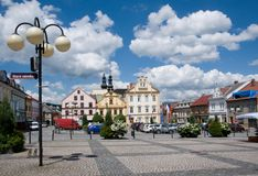 Ceska Trebova, Czech republic. Historic square in Ceska Trebova, Czech republic Royalty Free Stock Images