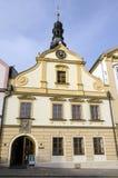 Ceska Trebova, el ayuntamiento viejo foto de archivo libre de regalías