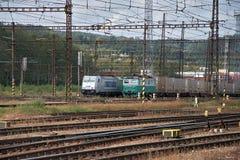 Ceska Trebova, R?publique Tch?que, 8 9 2017 : Jonction ferroviaire et gare ferroviaire Ceska Trebova, chemins de fer tchèques image libre de droits
