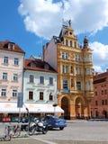 大广场, Ceske Budejovice,捷克共和国 库存照片