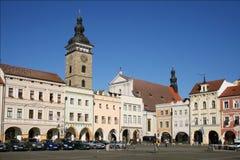 Ceske Budejovice alte Stadt Stockbild