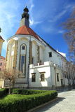 Ceske Budejovice - church of the Holy Family Royalty Free Stock Photo