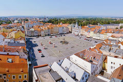 2015-07-04 - Ceske budejovice city, Czech republic - Namesti Premysla Otakara II. square in Ceske Budejovice (Budweis) Stock Photo