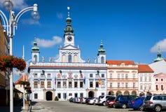 Renesance Town Hall in Ceske Budejovice, Czech Republic Royalty Free Stock Image