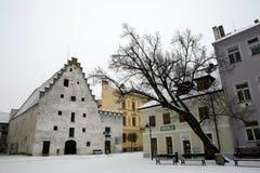 Ceske Budejovice houses Royalty Free Stock Images