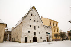 Ceske Budejovice houses Stock Photography