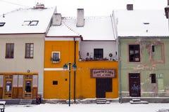 Ceske Budejovice houses Stock Photo