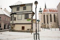 Ceske Budejovice houses Stock Photos