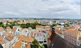 Ceske Budejovice, panorama Obraz Stock