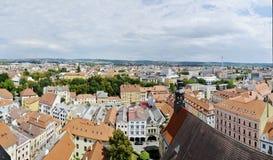 Ceske Budejovice, Panorama Stock Image
