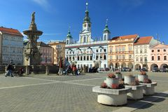 Ceske Budejovice square Royalty Free Stock Photography