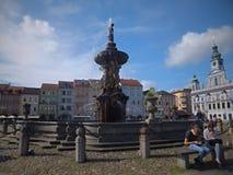 Ceske Budejovice  is a statutory city in the Czech Republic stock photos