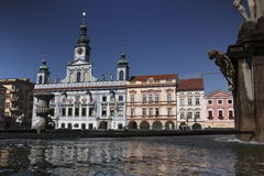 Ceske Budejovice town square Stock Photos