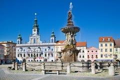 Ceske Budejovice, Tschechische Republik Stockbild