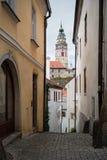 Ceske Krusovice城堡,捷克共和国塔  免版税库存照片