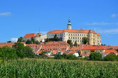 Cesko, Tscheche, Mikulov, Österreich, die Grenze, Vignette, Schloss, Architektur, Reise, reisend stockbilder