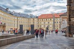 cesky捷克krumlov中世纪老共和国城镇视图 总统宫殿 2016年6月13日 库存照片