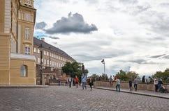 cesky捷克krumlov中世纪老共和国城镇视图 布拉格街道 2016年6月13日 免版税图库摄影