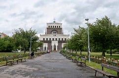 cesky捷克krumlov中世纪老共和国城镇视图 布拉格街道 2016年6月17日 库存照片