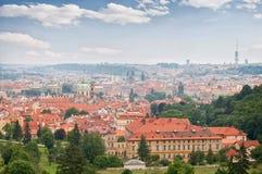 cesky捷克krumlov中世纪老共和国城镇视图 布拉格视图 库存图片