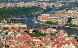 cesky捷克krumlov中世纪老共和国城镇视图 图库摄影