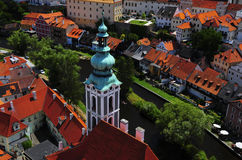 cesky捷克krumlov共和国 库存照片