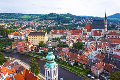 cesky πανόραμα krumlov cesky τσεχική πόλης όψη δημοκρατιών krumlov μεσαιωνική παλαιά Στοκ φωτογραφίες με δικαίωμα ελεύθερης χρήσης