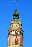cesky πύργος krumlov Στοκ εικόνα με δικαίωμα ελεύθερης χρήσης