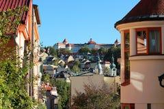 cesky τσεχική πόλης όψη δημοκρατιών krumlov μεσαιωνική παλαιά στοκ εικόνα