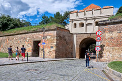 cesky τσεχική πόλης όψη δημοκρατιών krumlov μεσαιωνική παλαιά Οι οδοί Vysehrad στην Πράγα 18 Ιουνίου 2016 Στοκ φωτογραφίες με δικαίωμα ελεύθερης χρήσης